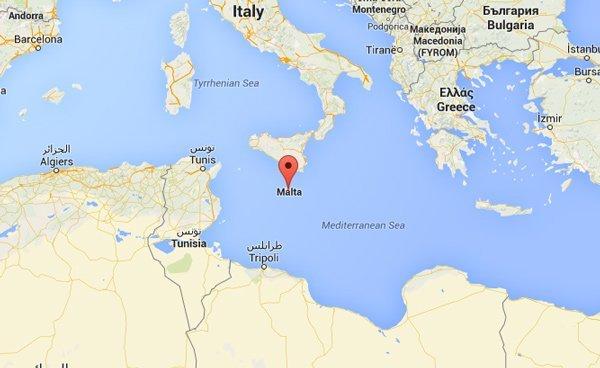 malta ligging in middellandse zee onder sicilië