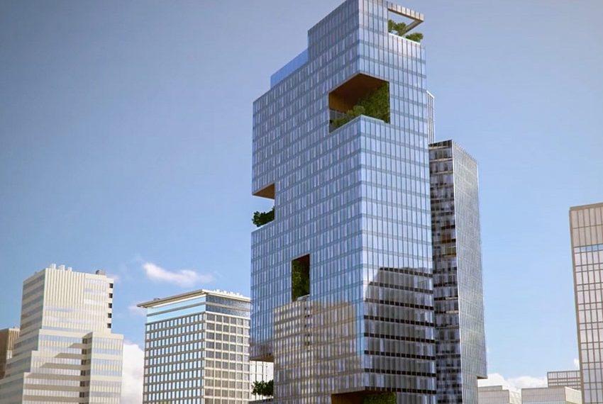 millennium place hotel dubai buitenzijde glas groen wereldwijdleven