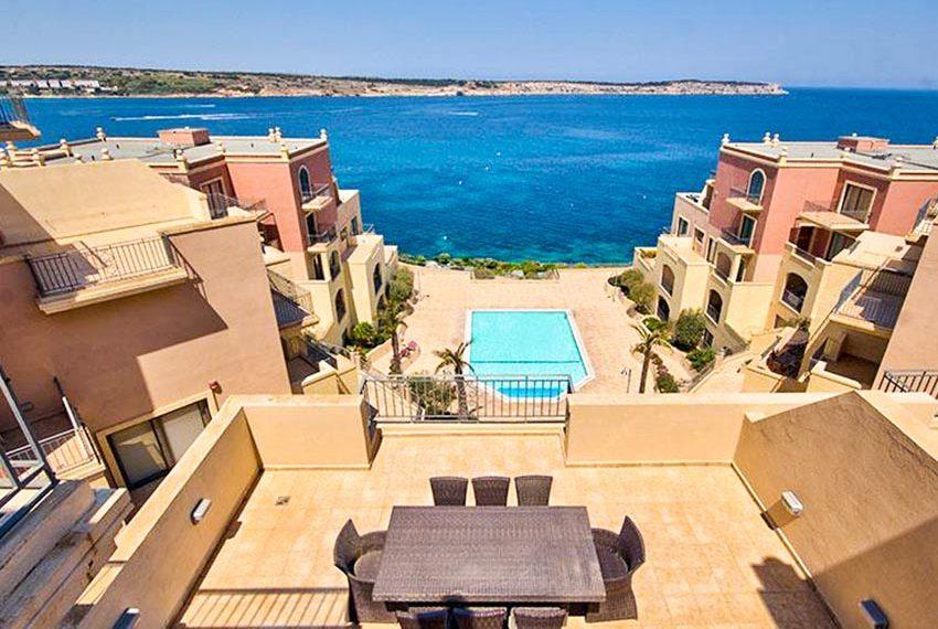 tas-sellum residentie mellieha blok 5 penthouse terras zeezicht zwembad wereldwijdleven