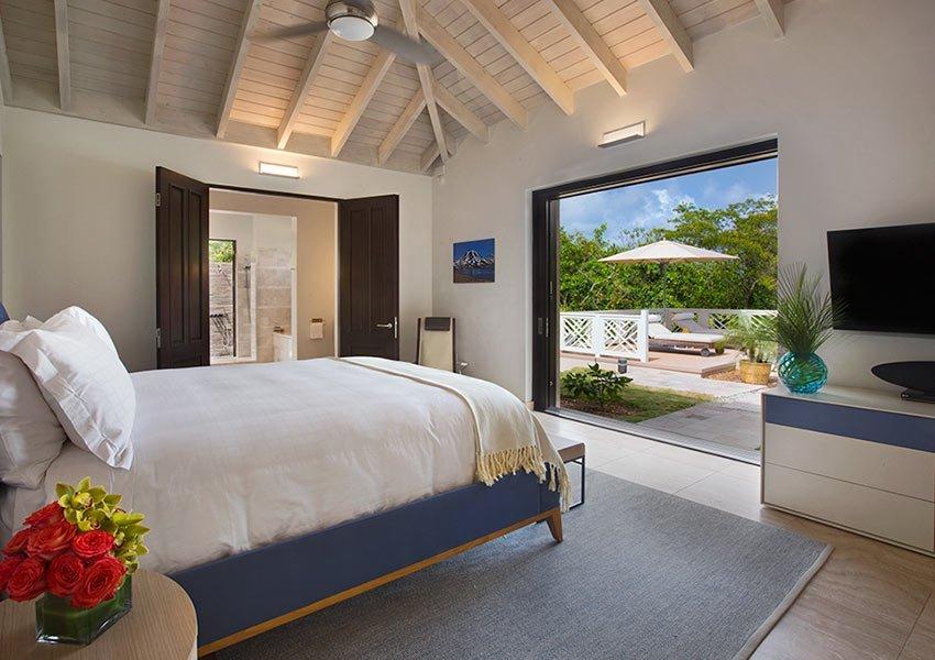 hoofd slaapkamer voorbeeld villa poinciana estates bouwgronden four seasons vastgoed nevis wereldwijdleven