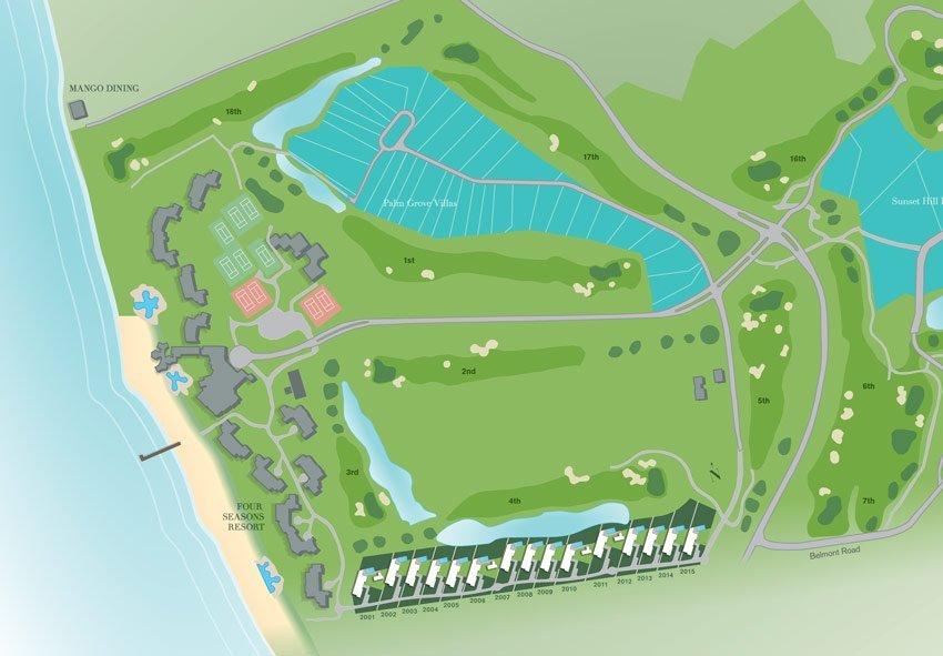 inplantingsplan pinneys beach villas four seasons vastgoed nevis wereldwijdleven
