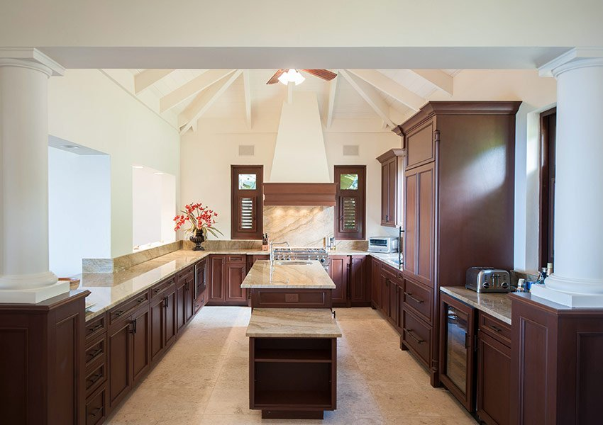 keuken voorbeeld villa poinciana estates bouwgronden four seasons vastgoed nevis wereldwijdleven
