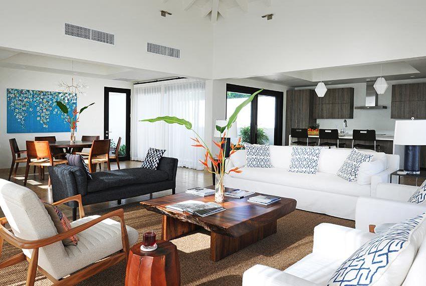 open keuken leefruimte eetruimte pinneys beach villas four seasons vastgoed nevis wereldwijdleven