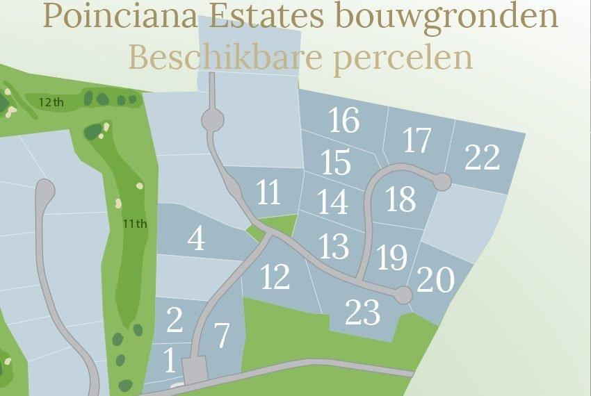 percelen beschikbaar poinciana estates bouwgronden four seasons vastgoed nevis wereldwijdleven