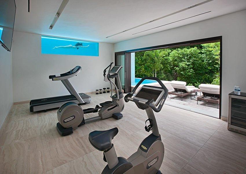 spa fitness binnen voorbeeld villa poinciana estates bouwgronden four seasons vastgoed nevis wereldwijdleven