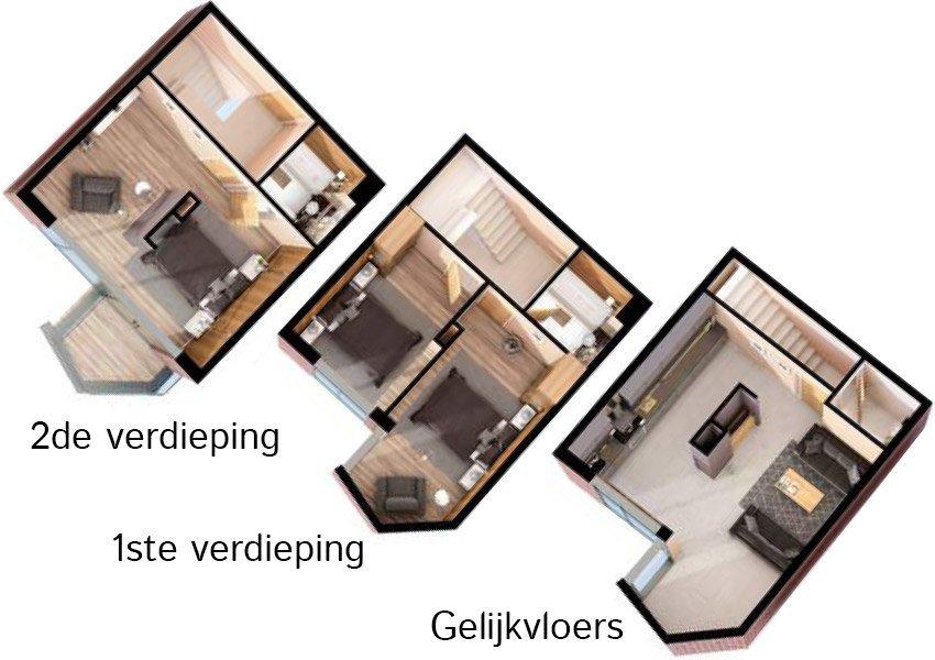 3d grondplan huis 3 slaapkamers investeringsvastgoed in liverpool
