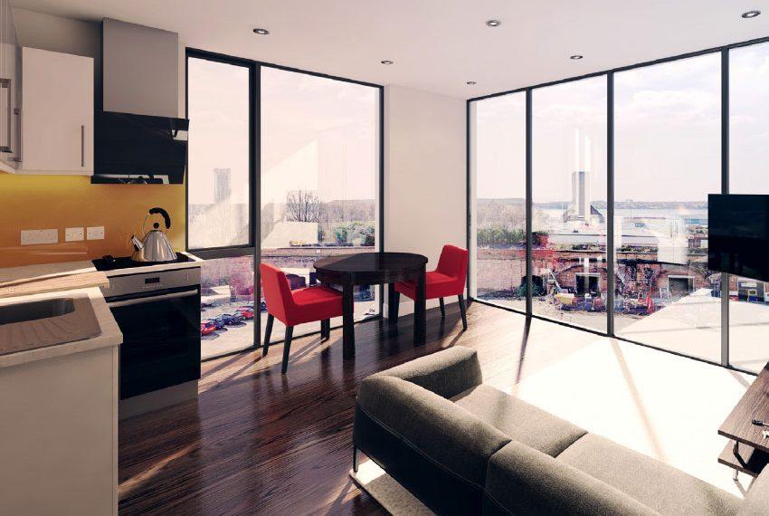 keuken leefruimte studio flat beleggingspand kopen in liverpool
