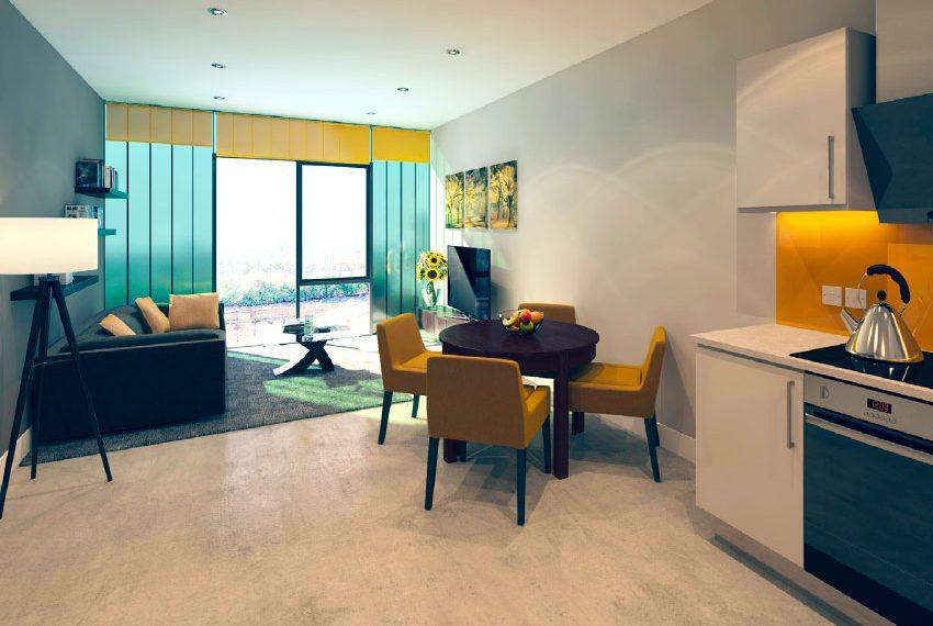 leefruimte flat 2 slaapkamers beleggingspand kopen in liverpool