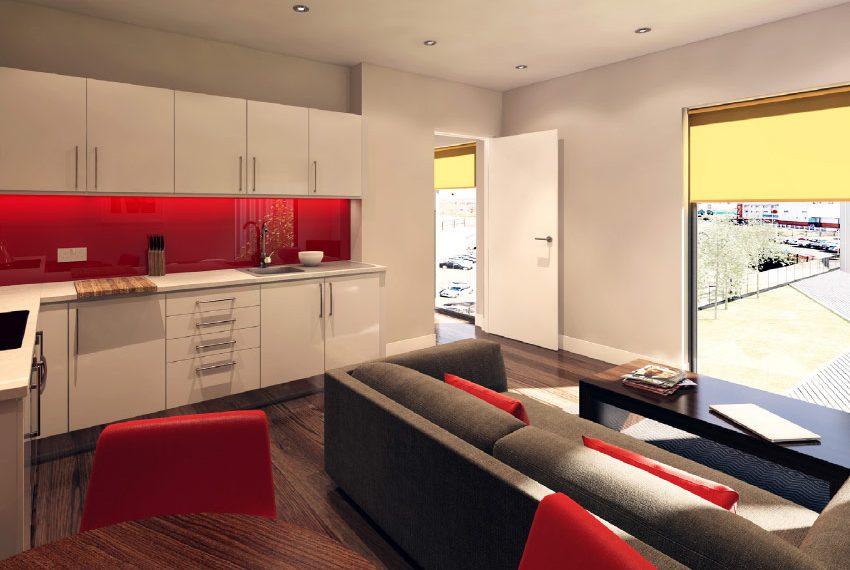 leefruimte keuken flat 1 slaapkamer beleggingspand kopen in liverpool