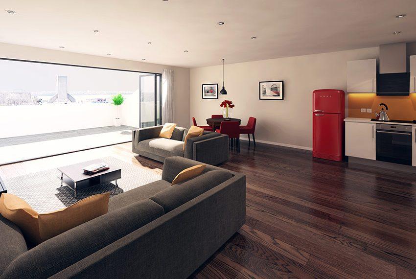 loft flat 2 slaapkamers keuken leefruimte terras beleggingspand kopen in liverpool
