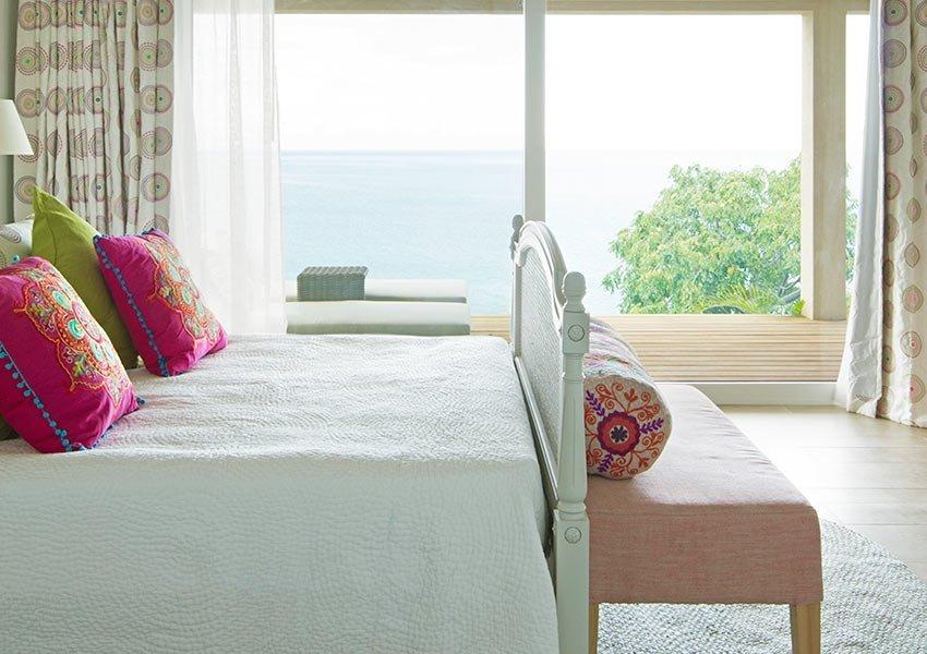 luxueuze slaapkamer in exclusieve villa kopen voor verhuur grenada