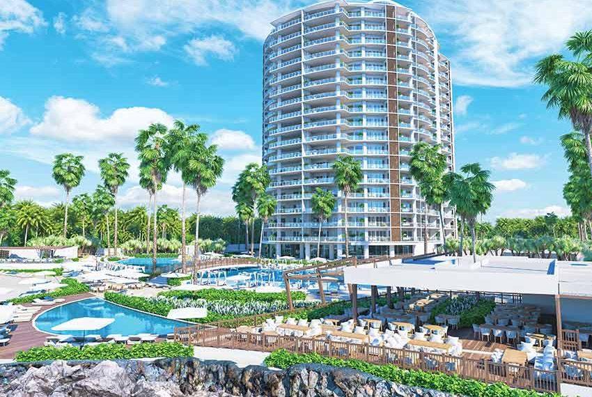 zwembad met bar en openlucht restaurant locatie san pedro de macoris dominicaanse republiek
