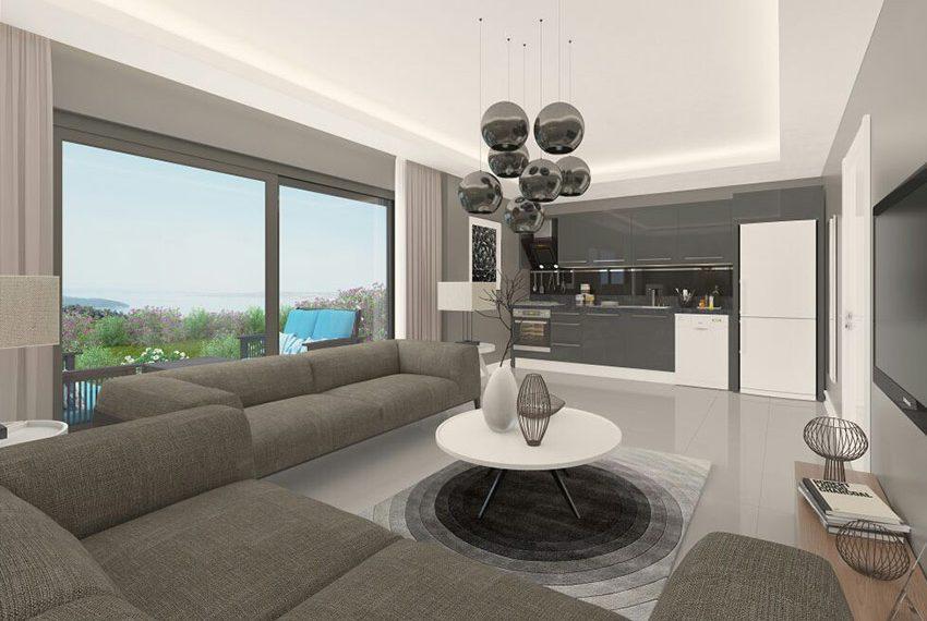 Appartementen te koop in turkije akbuk wereldwijd leven - Decoratie woonkamer met open keuken ...