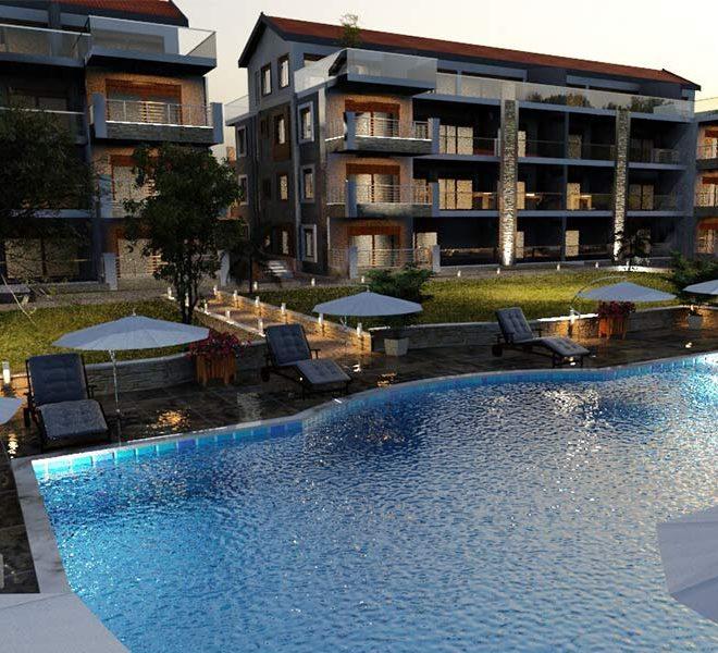 verlicht zwembad appartementen te koop in turkije akbuk