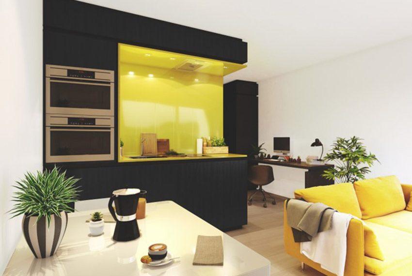 studio kopen leuven met ingebouwde moderne keuken opbrengsteigendom