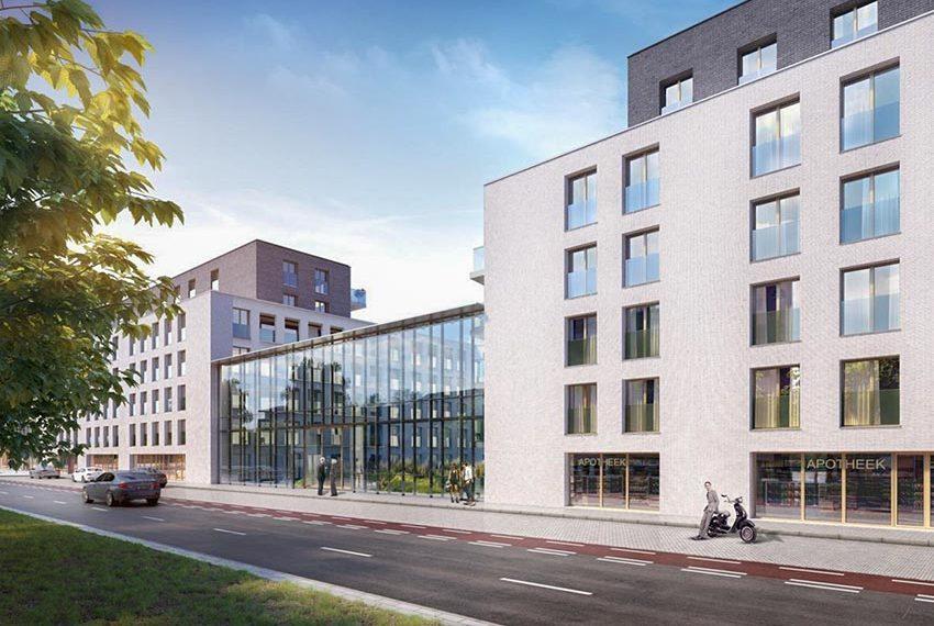vooraanzicht residentie serviceflats te koop in gent nieuwbouw