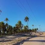 strand weg typisch voor vissersdorpje Poças Conde Brazilië