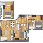 drie slaapkamer appartement vastgoedbelegging met verhuurgarantie frankrijk