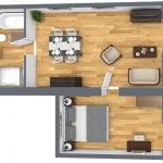 grondplan 1 slaapkamer appartement wyndham halcyon retreat golf spa resort