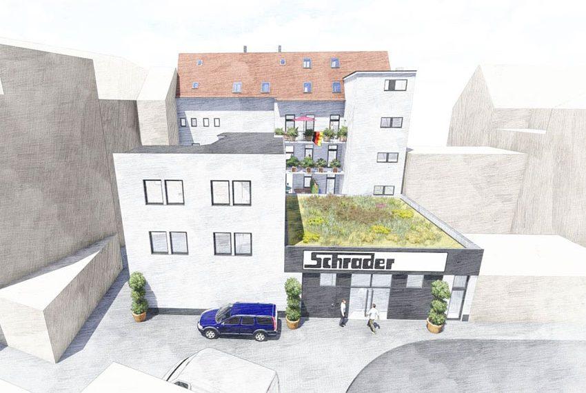 achterkant appartementsgebouw te koop als investering inclusief commerciële winkelruimte met verhuurgarantie