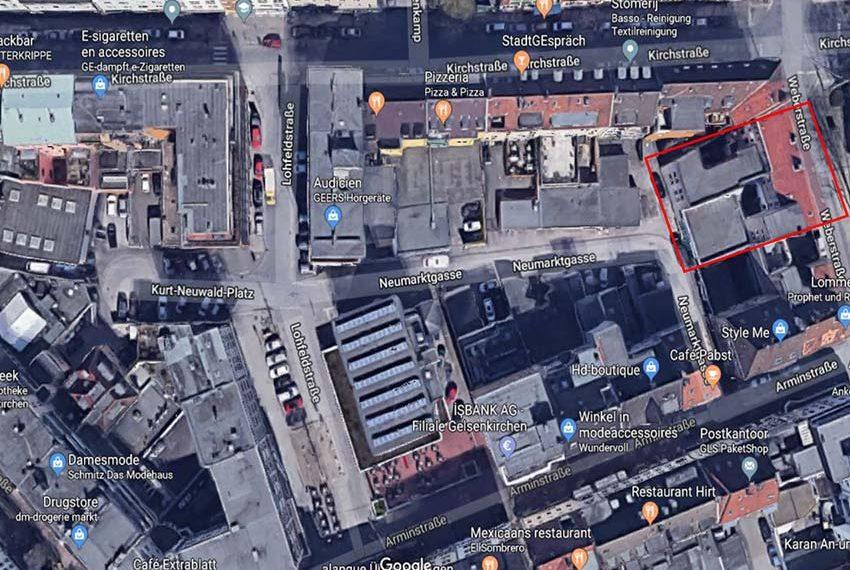 inplanting gebouw satellietbeelden gelsenkirchen duitsland