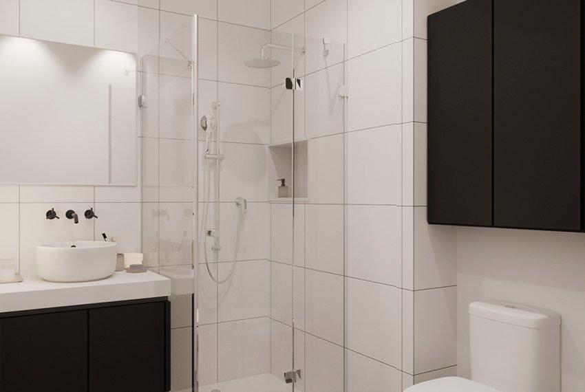 privé badkamers bij elke studentenkamer en studio inclusief douche wc en wastafel