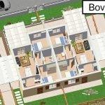 3D tekening appartementen op eerste verdieping twee slaapkamers te koop vlakbij adriatische zee