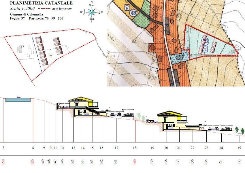 appartementen zijn gebouwd op een heuvelflank op 140 meter boven zeespiegel en op 1500 meter van adriatische zee oost italië
