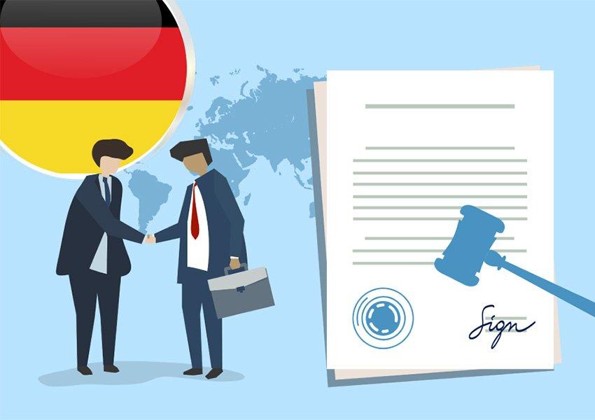 ondertekening notariële akte ter plaatse bij duitse notaris of via volmacht