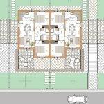 plattegrond blok A bovenverdieping van appartementen te koop in nieuwbouw park te colonnella oost italië