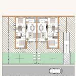 plattegrond blok A gelijkvloers appartement italië kopen met twee slaapkamers abruzzen colonnella