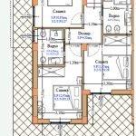 plattegrond gelijkvloers optie combinatie beide verdiepingen met trap te koop als vakantiehuis aan adriatische zee abruzzen oost italië