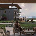 balkon dat uitgeeft op binnentuin appartement te koop op gelijkvloers royal blue montenegro residentie in tivat