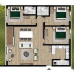 grondplan 3 slaapkamer appartement met tuin te koop montenegro luxe nieuwbouw residentie tivat
