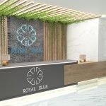 receptie kleinschalige luxe residentie royal blue montenegro appartementen te koop voor gemengd gebruik