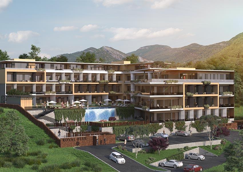 luxe vastgoed kopen in montenegro luxe appartementen te koop in tivat zicht op adriatische zee