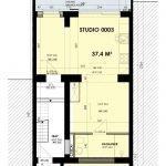Gelijkvloerse verdieping met inkomhal in studentenhuis met studentenflats te koop