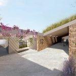 ingang afdalende trap studio appartementen lagere verdieping hera bay luxury resort