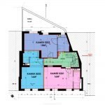 plan tweede verdieping gebouw met studentenkamers te koop in leuven