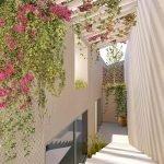 toegang van studio appartementen op heuvelflank hera bay luxury resort samos griekenland