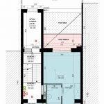 tweede verdieping studentengebouw te koop leuven met terras aan achtergevel
