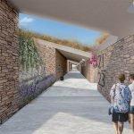 wandelgang boven onderliggende studios en appartementen te koop in hera bay luxury resort samos eiland
