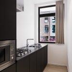 2 state of the art keukens voor gemeenschappelijk gebruik in deze studentenwoning in leuven