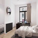 gemeubileerde kamer op gelijkvloers met tweepersoons boxspring bureau kasten en privé badkamer te koop als investering leuven
