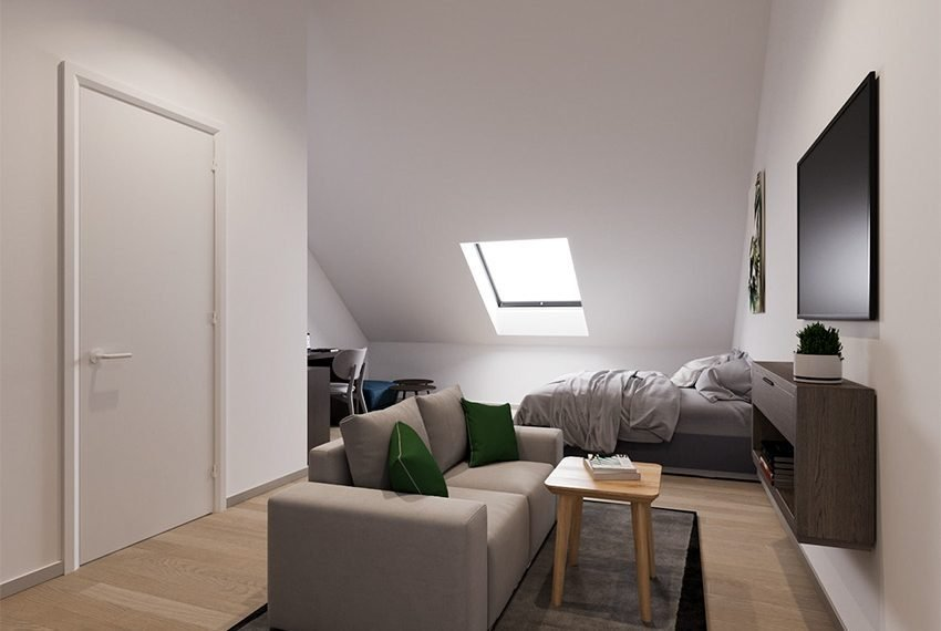 gemeubileerde kamer voor studenten te koop onder dak inclusief verhuurgarantie in leuven