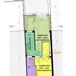 grondplan tweede verdieping twee gemeubileerde kamers voor studenten te koop en gemeenschappelijke keuken studentenhuis leuven