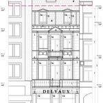 plan voorgevel gebouw met opbrengsteigendommen te koop in leuven