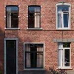 voorgevel studentenhuis met 6 gemeubileerde kamers en 1 gemeubileerde studio te koop in leuven