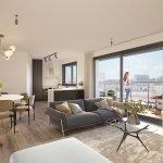 nieuwbouw appartement kopen in brussel als passieve belegging met verhuurservice van A tot Z modern interieur met veel natuurlijk licht