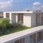 nieuwbouw penthouse te koop in brussel op dak met privé tuintje en terras met ligzetels luxe vastgoed